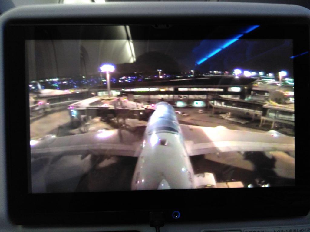 "ANAのA380""Flying Honu""成田空港出発前。機外カメラから。"