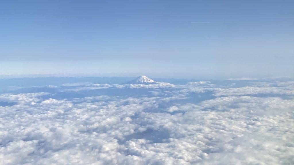 ANA名古屋・中部-東京・羽田路線 富士山