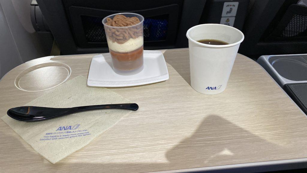 ANA 羽田-ロンドン便 プレミアムエコノミークラス デザート