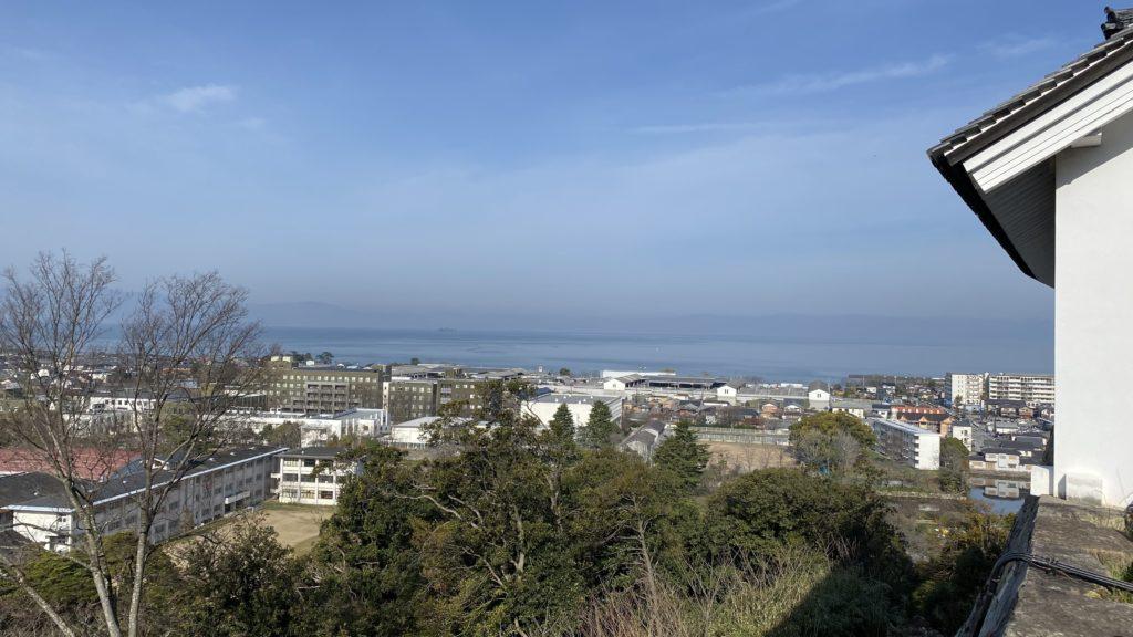 彦根城 琵琶湖