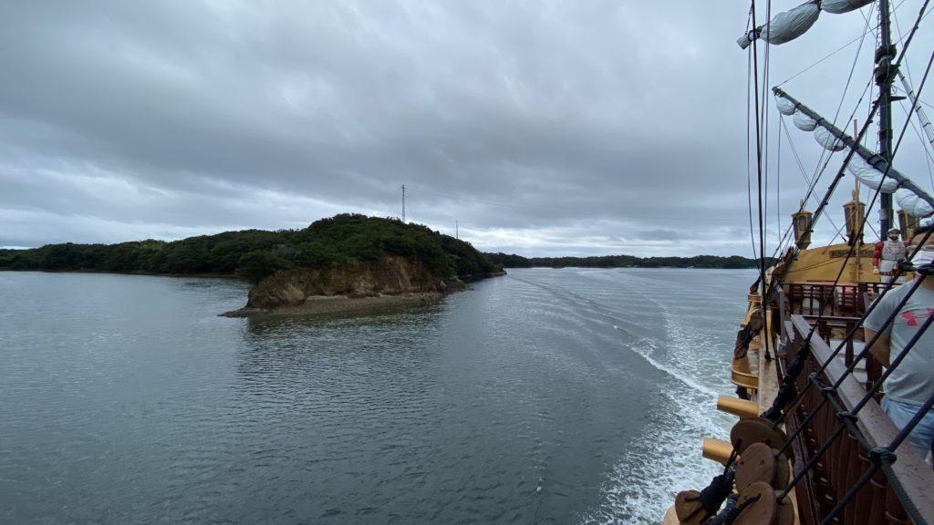 賢島エスパーニャクルーズ デッキからの景色