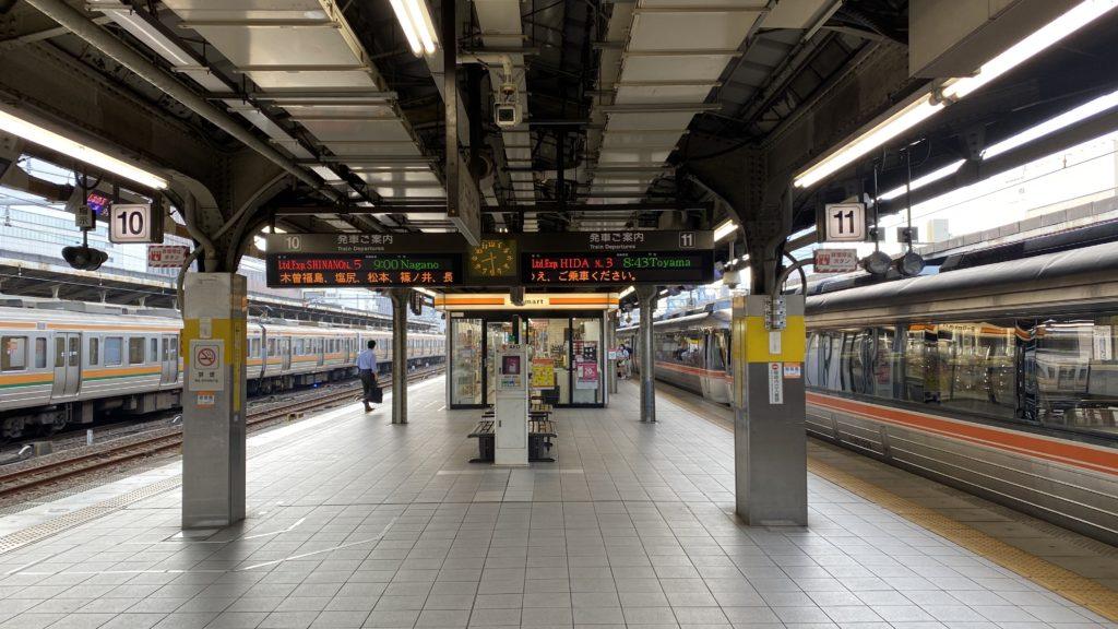 名古屋駅 特急しなの 特急ひだ 乗り場