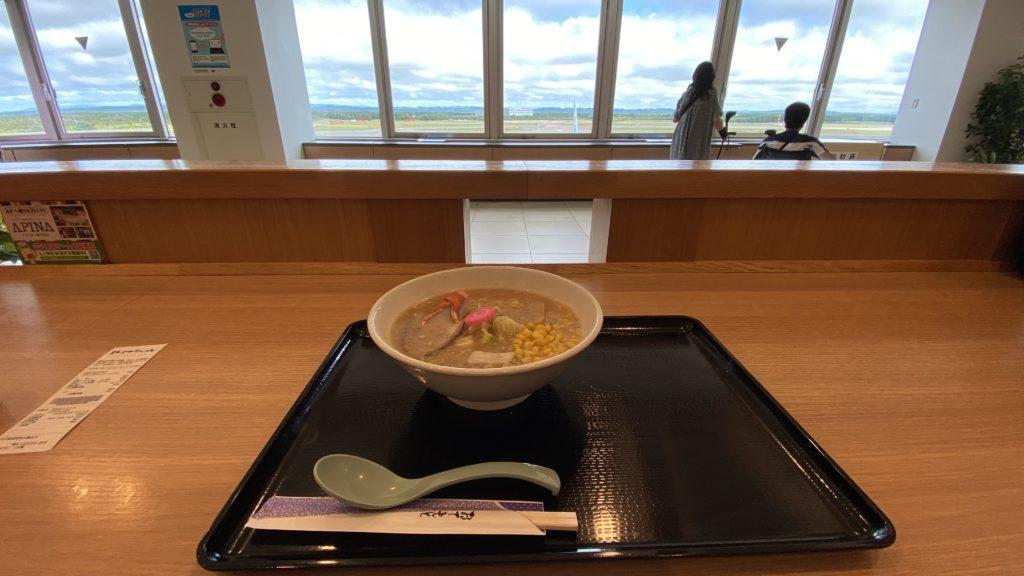 新千歳空港で味噌ラーメン