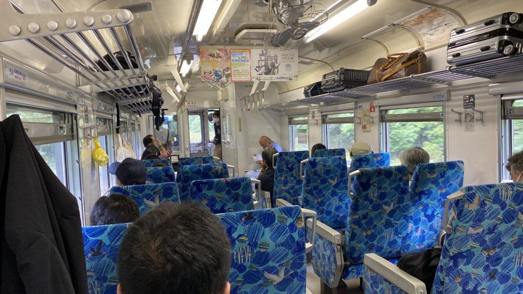 釧網本線 普通列車 車内