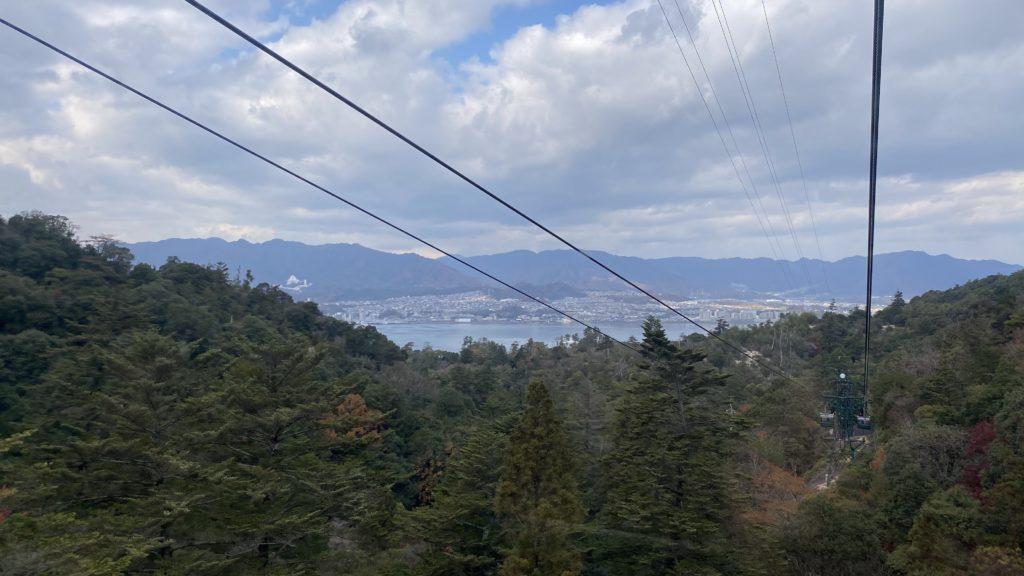 宮島ロープウェイから見える瀬戸内海