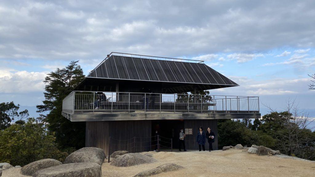 弥山山頂展望台