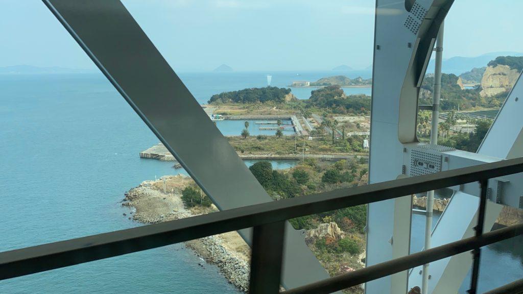 瀬戸内海から見た四国