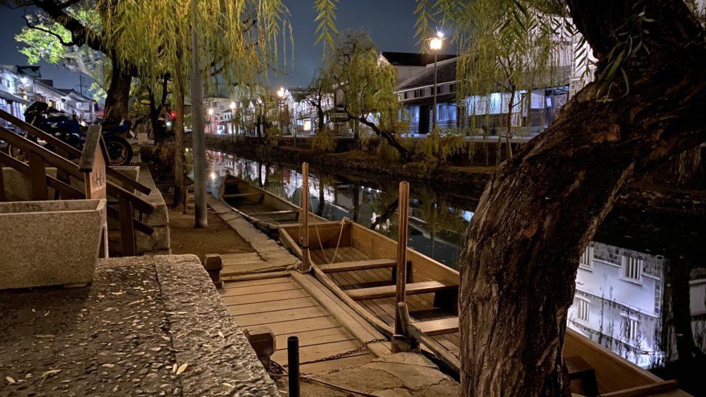 倉敷の美観地区の船