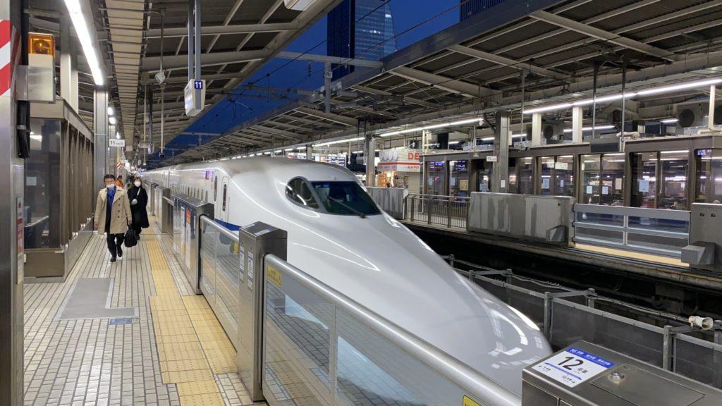 名古屋始発の新幹線ひかり号
